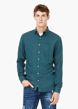 Сорочка тепла зимова рубашка зимняя mango man розмір xxl