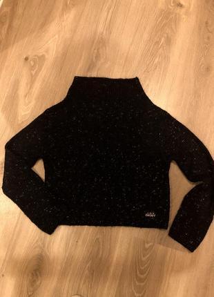 Кроп свитер с шерстью dkny