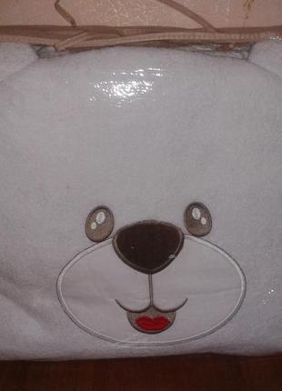 Набор детский (защита на кроватку + комплект постельного белья) салатовый с белым3
