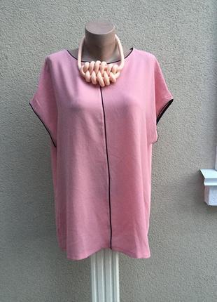 Комбинированная блуза,футболка,кофточка большой размер,вискоза+полиэстер