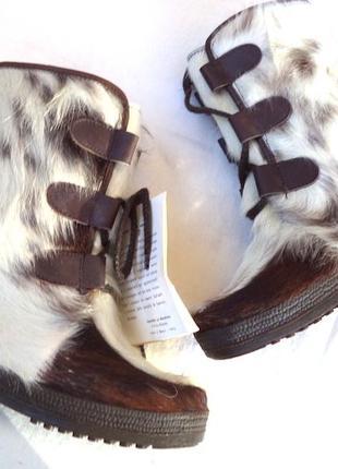 Детские меховые сапоги на 32 размер