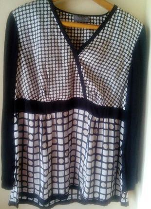 Новая шелковая блуза  для пышной красоты
