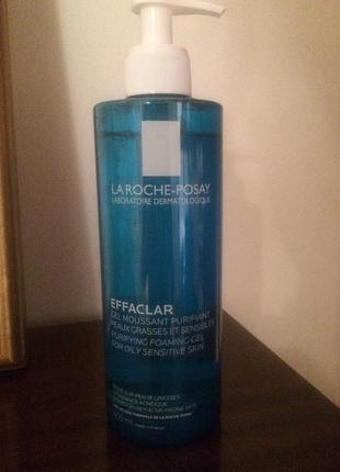 Очищающий гель мусс для жирной и проблемной кожи лица la roche-posay effaclar gel 400 мл