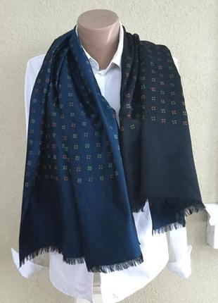 Большой шёлковый унисекс шарф двухсторонний,piattelli,италия,люкс бренд,оригинал