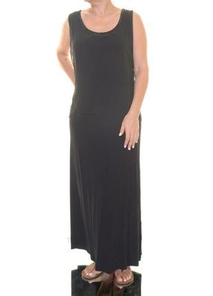 """Двойное платье """"комби"""" с отлетной шифоновой деталью , вырез декорирован бисером(сша) 48р"""