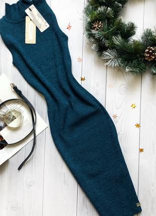 Роскошное вязаное  мерцающее платье по фигуре lipsy
