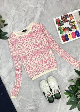 Нежный свитерок с принтом сердечки  sh1850127 new look