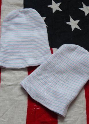 Шапки для новорожденных близняшек двойняшек унисекс сша
