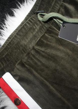 Плюшевые штаны с лампасами4 фото