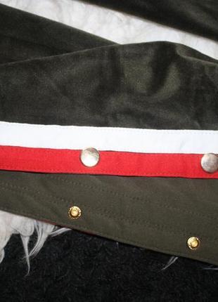 Плюшевые штаны с лампасами5 фото