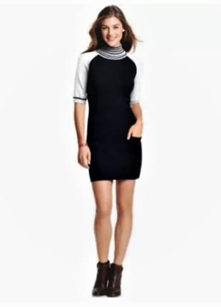 Tommy hilfiger платье-гольф b&w c короткими полноценными  рукавами реглан, размер м
