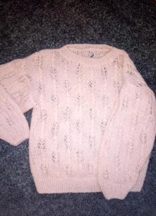 Мохеровый свитер джемпер оверсайз