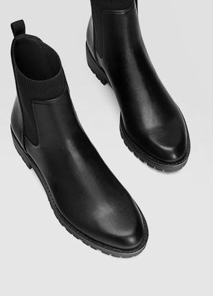 Ботинки челси stradivarius размер 36 37 38 39 40 412 фото