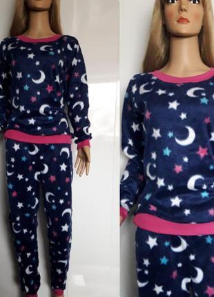Тёплая махровая пижама. новая. размер s - m