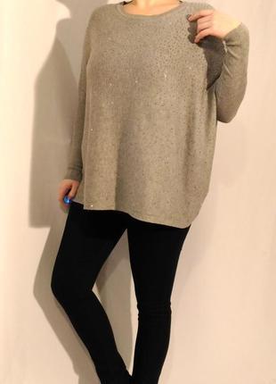 2129/80 серый свитер lilie rose oversize