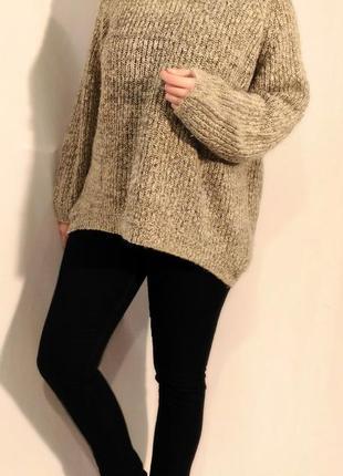 2134/100 светло-серый свитер f&f oversize