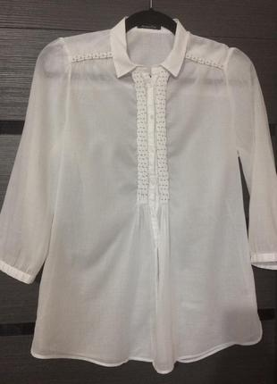 Рубашка белая massimo dutti