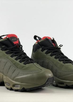 Мужские кроссовки цвета хаки nike air max 95 sneakerboot разные размеры в наличии