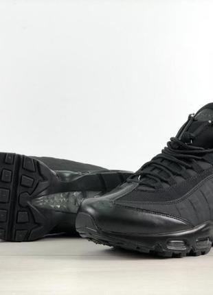 Черные мужские кроссовки nike air max 95 sneakerboot разные размеры в наличии
