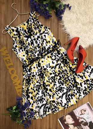 Нарядное платье с поясом 100% коттон