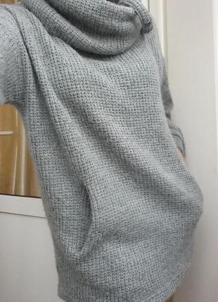 Вязаное платье худи