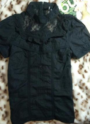 Кружевная,хлопковая блуза.