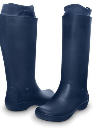 Crocs rainfloe tall boots w10 26,5 - 27 см резиновые сапоги