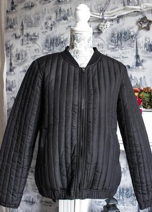 Чёрная куртка\курточка\бомбер от jacqueline de yong (l размера)