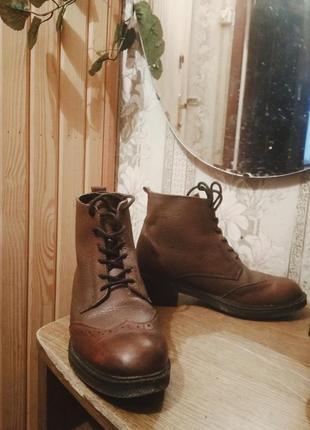 Кожаные ботинки на холодную осень или теплую зиму;)