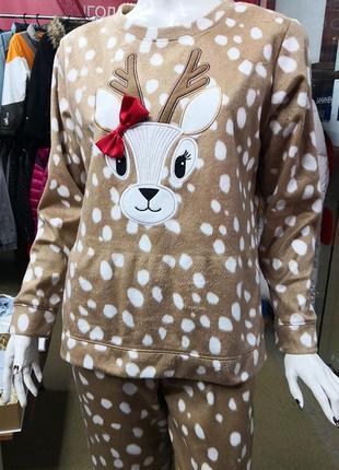 Пижама флисовая новогодняя женская george