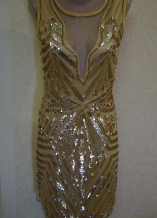 Золотое платье в паетках
