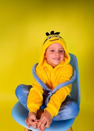 Детские пижамы костюм кигуруми миньены