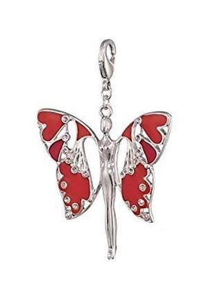 Подвеска шарм бабочка мал. pilgrim дания элитная ювелирная бижутерия