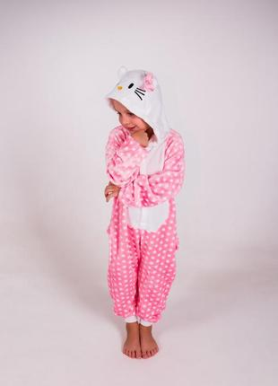 Детские пижамы костюм кигуруми хэлоу китти