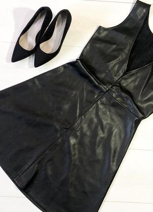 Кожаное платье с открытой спинкой  reserved