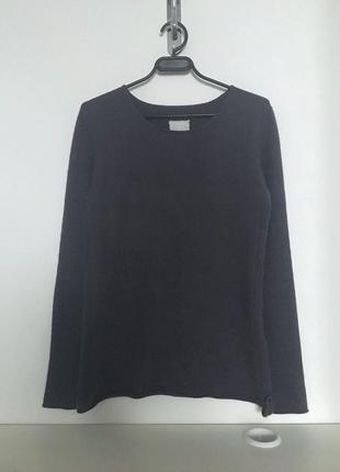 Vip бренд 81hours оригинал 100% кашемир cashmere базовый сизый свитер пуловер