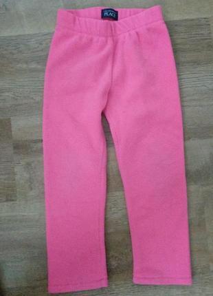 Флисовые штаны подлева children's place 5t