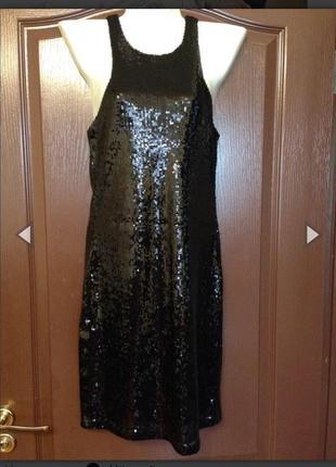 Платье мини пайетки