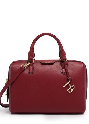 Кожаная фирменная сумка w57th barrel satchel от henri bendel