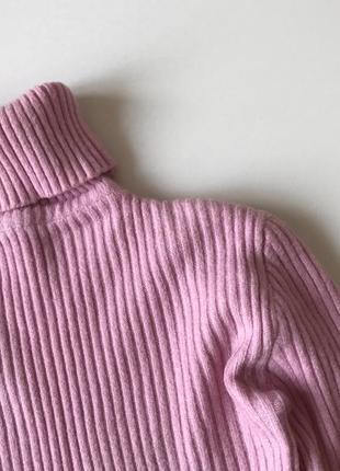 Гольф тёплый вязаный в рубчик водолазка свитер