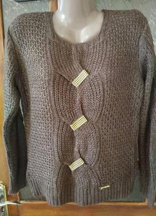 Теплый нарядный свитер 52-54 р.