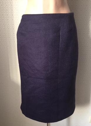 Теплая юбка шикарнй состав (ангора / шерсть) размер нем 36, укр 42-44, gabriele blachnik