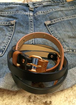 Фирменный оригинальный ремешок accessorize,тонкий ремень,пояс,поясок+подарок