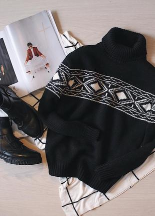 Теплющий свитер из шерсти мериноса /merino wool в скандинавском стиле
