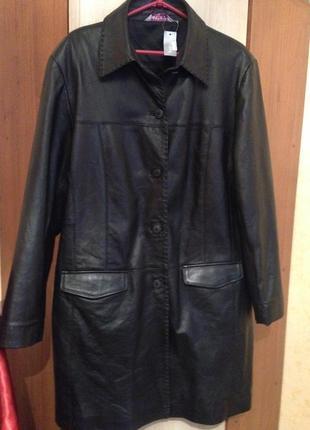 Пальто-кожа-20 размер  от-bonmarche