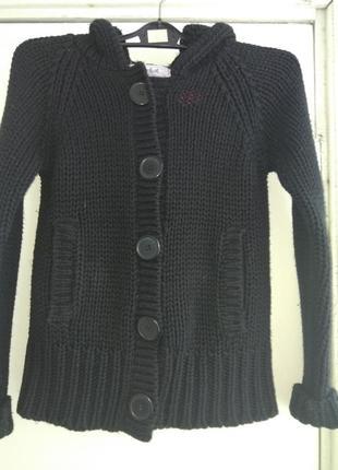 Теплий чорний светрик на дівчинку моє 2 кармани колір не вигорівший на зиму