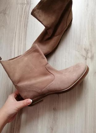 Натуральные кожаные ботинки кожа 40 размер