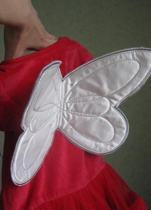 Нарядное платье - боди с крылышками disney, девочке 9-12 мес