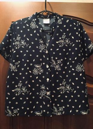 Блуза/ рубашка/ пог 55
