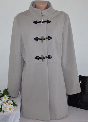 Брендовое демисезонное пальто с карманами дафлкот george вьетнам вискоза
